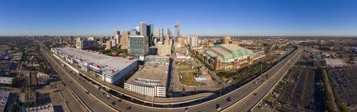 Vue aérienne de ville moderne de Houston, le Texas, Etats-Unis photos stock
