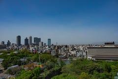 Vue aérienne de ville de Nagoya, Japon photos stock