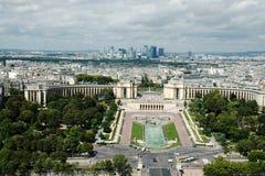 Vue aérienne de ville de Paris du haut de Tour Eiffel Photographie stock