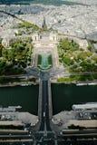 Vue aérienne de ville de Paris du haut de Tour Eiffel Photo stock