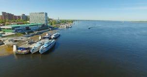 Vue aérienne de ville de Samara clips vidéos