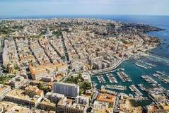Vue aérienne de ville de Syracuse Sicile Photos stock