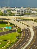 Vue aérienne de ville de Tampa photo libre de droits