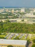 Vue aérienne de ville de Tampa image libre de droits