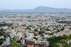 Vue aérienne de ville de Tirupati Photo stock