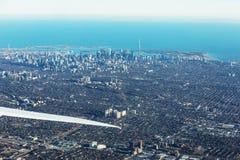 Vue aérienne de ville de Toronto Image libre de droits