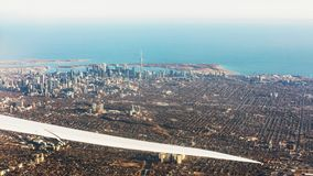Vue aérienne de ville de Toronto Photo stock