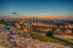 Vue aérienne de Vilnius, Lithuanie Photos stock