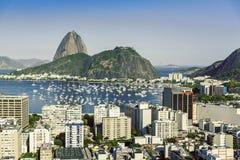 Vue aérienne de vintage de Rio de Janeiro images libres de droits