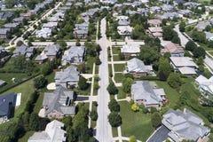 Vue aérienne de voisinage image libre de droits
