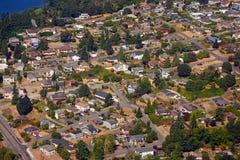 Vue aérienne de voisinage résidentiel photographie stock
