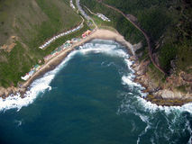 Vue aérienne de votre maison rêveuse de vacances Image stock