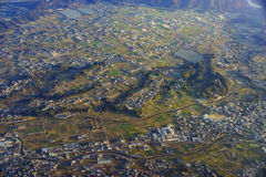 Vue aérienne de Wakayama Photo stock