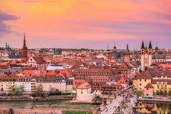 Vue aérienne de Wurtzbourg Images stock