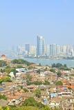 Vue aérienne de Xiamen d'île de Gulang-Yu, Chine Photo libre de droits