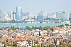 Vue aérienne de Xiamen d'île de Gulang-Yu, Chine Photos libres de droits