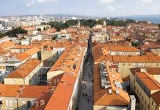 Vue aérienne de Zadar images libres de droits