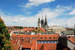 Vue aérienne de Zagreb Photographie stock libre de droits