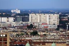 Vue aérienne de Zagreb Photographie stock