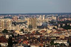Vue aérienne de Zagreb Image libre de droits