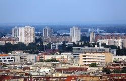 Vue aérienne de Zagreb Photos stock