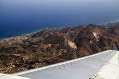Vue aérienne de Zakynthos Images libres de droits
