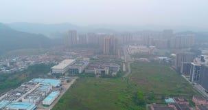 Vue aérienne de zone industrielle des Chine L'envergure au-dessus de la zone industrielle en Chine banque de vidéos
