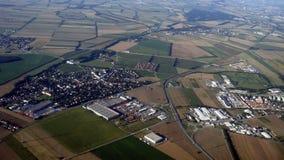 Vue aérienne de zone rurale européenne Image stock