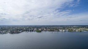 Vue aérienne Delray Beach, la Floride Images libres de droits