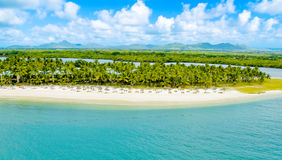 Vue aérienne des Îles Maurice Photo stock