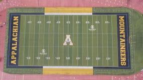 Vue aérienne des au sol de Stadium On The de brasseur de Kidd d'Appalache photographie stock