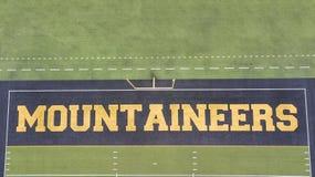 Vue aérienne des au sol de Stadium On The de brasseur de Kidd d'Appalache images libres de droits