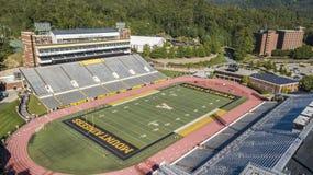 Vue aérienne des au sol de Stadium On The de brasseur de Kidd d'Appalache photo libre de droits