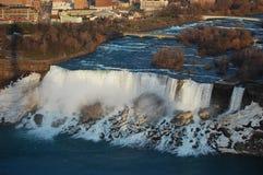 Vue aérienne des automnes américains de Niagara Falls Photographie stock