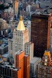 Vue aérienne des bâtiments de Chelsea, Manhattan, NYC image stock