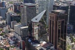 Vue aérienne des bâtiments de Mexico image libre de droits