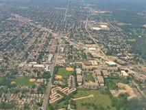 Vue aérienne des banlieues Photographie stock