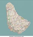 Vue aérienne des Barbade, R-U, Amérique Photographie stock
