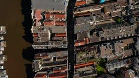 Vue aérienne des canaux à Amsterdam clips vidéos