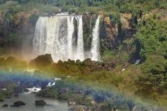 Vue aérienne des cascades d'Iguazu Image libre de droits