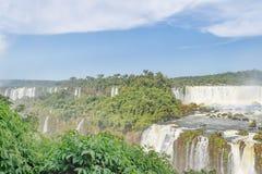 Vue aérienne des cascades d'Iguazu Image stock