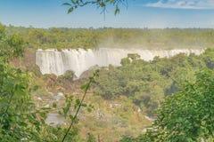 Vue aérienne des cascades d'Iguazu Photos stock
