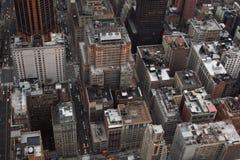 Vue aérienne des constructions Images libres de droits