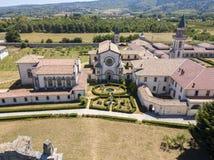 Vue aérienne des Di Serra San Bruno, Vibo Valentia, Calabre, Italie de Certosa photo libre de droits