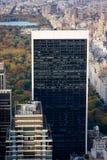 Vue aérienne des gratte-ciel et du Central Park de Manhattan à la chute image stock