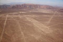 Vue aérienne des lignes de Nazca de plateau Photo libre de droits