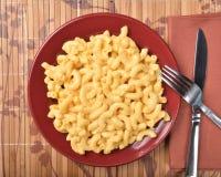 Vue aérienne des macaronis au fromage photographie stock libre de droits