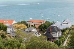 Vue aérienne des maisons dans Devonport Photos stock