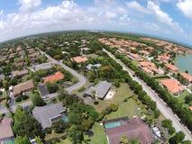 Vue aérienne des maisons de Miami photos stock