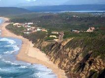 Vue aérienne des maisons de vacances. Images libres de droits